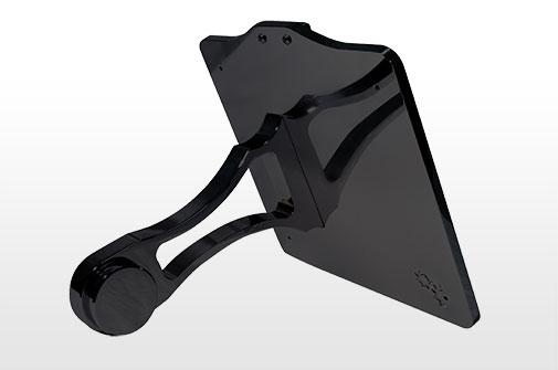 Side Mount License Plate For Harley Davidson Softail Models Black Fl100 Metaloobrada