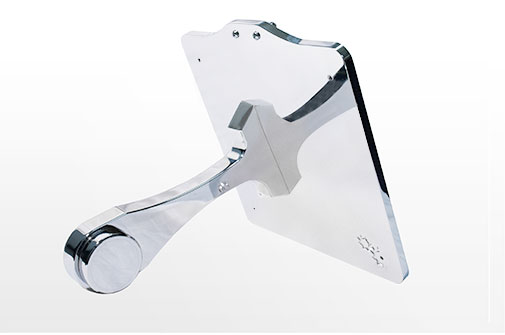 Chrome Side Mount License Plate - Softail - Solid Holder & Straight Plate