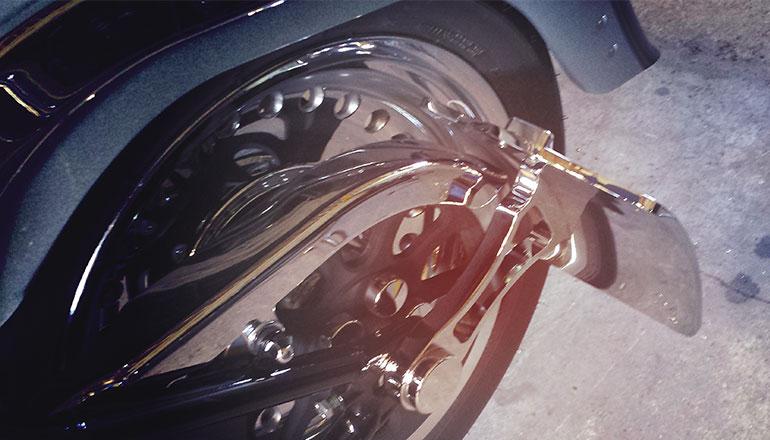 Side mount License Plate for Harley Davidson Softail models - Chrome
